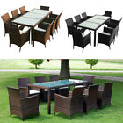 Garden Lounge Set 17 Pieces Poly Rattan Outdoor Seat Dining 8 Chairs And Table