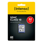 SD, SDHC, SDXC Speicherkarte, Box - 8GB 16GB 32GB 64GB - Intenso Class 10