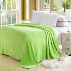 Super Solid Color Plush Throw Soft Cozy Diamond Flannel Blanket Full Queen King image