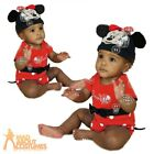 Baby Disney Minnie Mouse Costume Jersey Bodysuit Girls Boys Fancy Dress Outfit