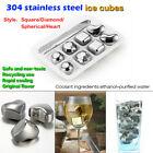 reusable whiskey wine steel ice cube/round set pysical coolant hygeian barwares