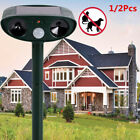 Aniamal Repeller Solar Power Ultrasonic PIR Sensor Yard Cat Dog Deterrent