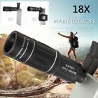 18x Zoom Optical Cell Phone Camera Lens Telescope Monocular Telephoto+2 Clip