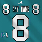 San Jose Sharks NHL Adidas Dark Jersey Any Name Any Number Pro Lettering Kit $30.17 USD on eBay