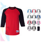Champion Raglan 3/4 Sleeve Baseball Mens Plain Tee Jersey Team Sports T-Shirt image