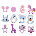 Baby Silicone Teether BPA Free Teething Toy Animal Child Ring Teethers DIY
