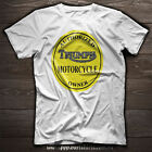 TRIUMPH Motorcycle AUTHORIZED TRIUMPH OWNER Yellow or Blue T SHIRT $27.70 CAD on eBay