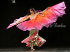 1pair 9'x45(2.7m*1.1m) detachable 6mm habotai dance silk wing=2pcs double veils