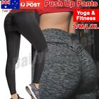 Women's Yoga Pants PUSH UP Fitness Leggings Sports Scrunch Stretch Trousers AU