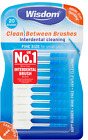 Wisdom Clean Between Interdental Brushes - pack of 20 - FINE BLUE CHOOSE AMOUNT
