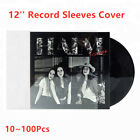 "10 100Pcs 12"" 3Mil LP Vinyl Record 33rpm Resealable Square Outer Sleeves Covers"