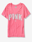 PINK VICTORIA SECRET TEE SHIRTS AUTHENTIC CAMPUS N LEGGING NEW T SHIRTS W TAGS