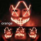 USA DJ MarshMello LED Mask Full Head Helmet Halloween Cosplay Bar Music Prop