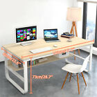 2 Colors Office Desk PC Computer Table Metal with MDF Wood Laptop Furniture Home