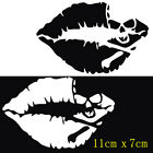 PET Sexy Kiss Mark Skull Lip Car Sticker Windows Bumper Vehicle Decal Waterproof