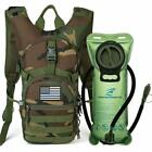 Military Tactical Hydration Backpack Pack With 2L Bladder Molle Bug out Bag Gear