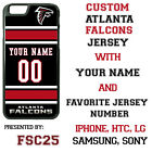Atlanta Falcons Blk Jersey Phone Case Cover Customized for iPhone Samsung etc.