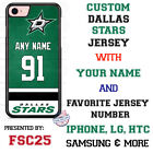 Dallas Stars Personalized Hockey Jersey Phone Case Cover for iPhone etc. $19.98 USD on eBay
