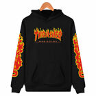 men women thrasher flame pullover hoodie sweaters skateboard sweatshirts