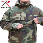 Woodland Camouflage Anorak Parka 1/4 Zip Pull Over Jacket W/Hood 3847 Rothco