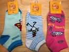 Brand New 3 pair pack Griffin Women's Collection printed socks size 7-8.5