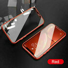 For iPhone XR Xs Max 6 7 8 Plus Magnetic Adsorption Double Side Glass Case Cover