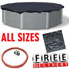 Above Ground Swimming Pool Winter Cover 15/18/21/24 Round Snow Ice Protection