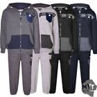 New Infants Boys Contrast Button Hoodie DL Project Hooded Bottoms Jog Tracksuit