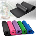 "Внешний вид - 10mm Thick Non-slip Yoga Mat Pad Exercise Fitness Pilates w/ Strap 72"" x 24"" NEW"