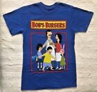 New Mens Bobs Burgers Cast T Shirt Blue Various Sizes image