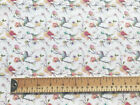 100% Cotton Fabric - Hummingbird Print Fabric - Craft Material Metre JLC0203