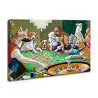 Home Decor Art Print Dogs Playing Pool Billiards Game Oil Painting on Canvas $18.32 CAD on eBay