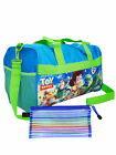 "Kids Disney Nickelodeon 18"" Duffel Bag & Zippered Mesh Travel Case 2Pcs CHOOSE <br/> Mickey Minnie Toy Story JoJo Siwa Paw Patrol Marvel"