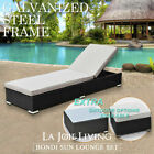 Outdoor Sun Lounge Bed Wicker Rattan Furniture Pool Cushion Garden Sofa Deck