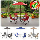 Patio Table Chairs Umbrella Dining Bistro Set Outdoor Garden Folding Furniture