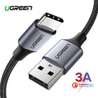 Ugreen USB Type C Nylon Braided Cable Fast Charge Data Grey Silver....