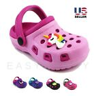 Toddler Girls Kids Slip On Clogs Sandals Shoes Beach Summer Water Slippers 5-10