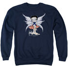 BETTY BOOP MUSHROOM FAIRY Licensed Pullover Crewneck Sweatshirt SM-3XL $33.96 USD on eBay