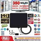 Ultra Thin Flat Indoor HDTV Amplified HD TV Signal Antenna 350 Miles 13ft Cable