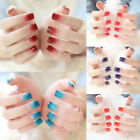 24*Charm false fake artificial toe nails tips nail art rendering 8 colors BLUS