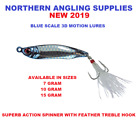 NAS NEW BLUE SCALE FEATHER HOOK JIGGING LURES 7G,10G,15G,BOAT OR SHORE CAST