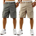 Shorts Trouser Multi-pocket Elastic waist Loose fitting Breathable Solid color