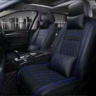 Deluxe Car Seat Cover Cushions Front & Rear Full Set Thicken PU Leather Interior