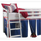 Kids Mid Sleeper Shorty Cabin Bed Tent Curtain Captains Loft Bunk Tent