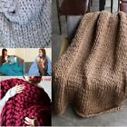 Handmade Chunky Knit Wool Blanket Large Thick Yarn For Home Sofa Bed Super Warm image