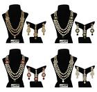 Indian Fashion Set Jewelry Necklace Bridal Gold Plated Bollywood Wedding Style