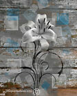 Blue Brown Rustic Wall Art,Farmhouse Style Pictures for Bedroom,Living Room