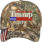 Arkansas for Trump US Flag 2024 Political Gift One Size Fits All Embroidered Hat