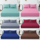 T160 Extra Deep 40 Cm Fitted Sheet Easy Care Polycotton Plain Dyed Uk Bed Size image