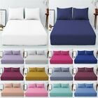 Extra Deep 40 Cm Fitted Sheet Easy Care Poly cotton Plain Dyed UK Bed All Size image